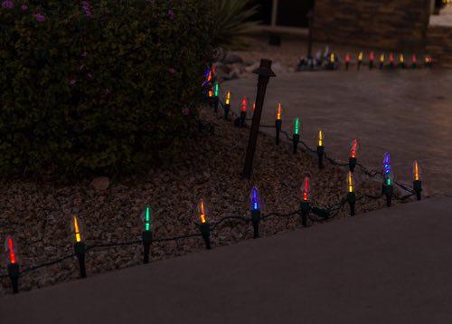 Multi Colored Pathway Lighting