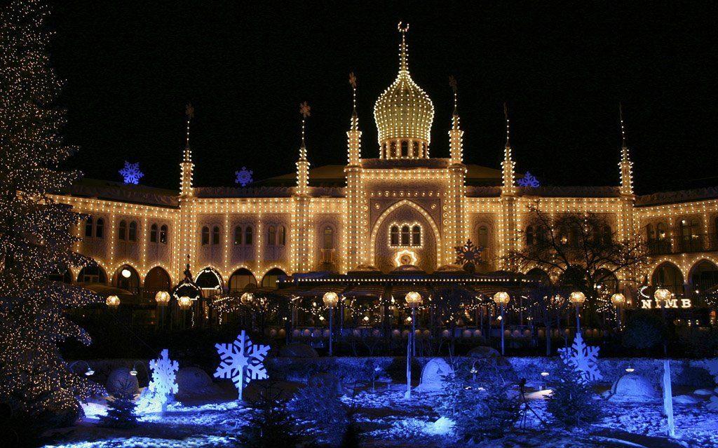 exotic christmas light display in denmark