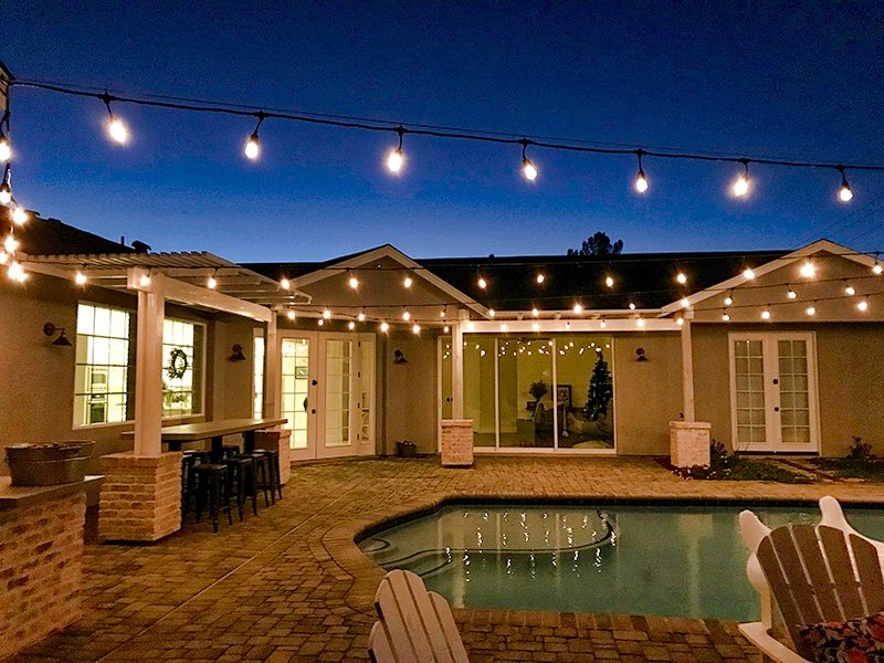 pool landscape lights